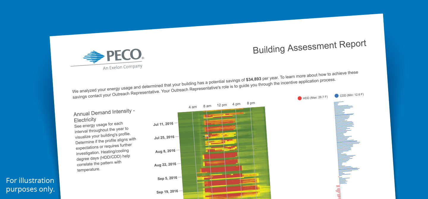 Sample image of a building assessment report.
